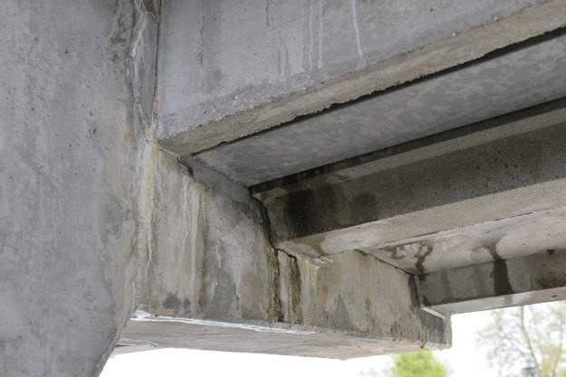 Der Beton hat gelitten