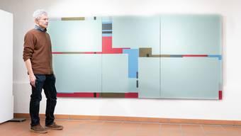 Daniel Felber vor seinem neusten Werk