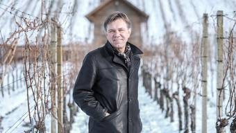 Andreas Meier ist neues CVP-Vorstandsmitglied. Fotografiert auf seinem Weingut, dem Weingut zum Sternen in Würenlingen.