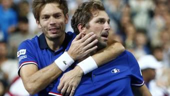 Nicolas Mahut (links) und Julien Benneteau brachten Frankreich den entscheidenden Punkt