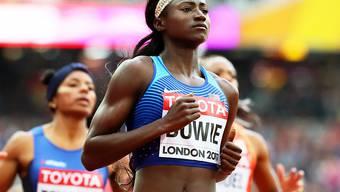 Die Amerikanerin Tori Bowie sorgt zum Abschluss der Sonntags-Session für einen Paukenschlag im 100-m-Rennen der Frauen