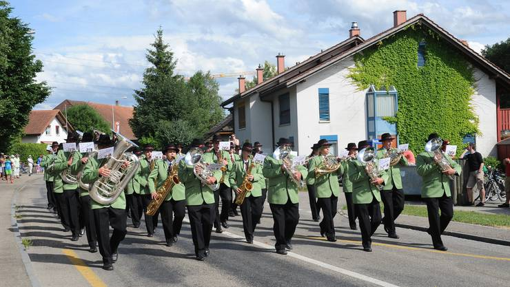 Der Parademusik-Sieger die Vereinsmusik Kriegstetten