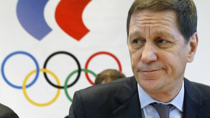 Russlands IOC-Präsident Alexander Zukow gibt den Olympia-Entscheid bekannt