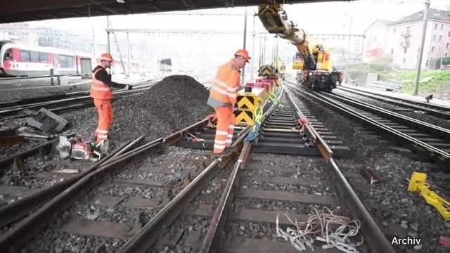 Pendler brauchen im Sommer viel Geduld wegen SBB-Bauarbeiten