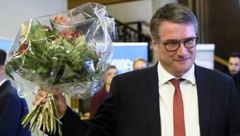 Christian Levrat anlässlich des zweiten Wahlgangs der Ständeratswahlen in Fribourg, 10. November 2019.