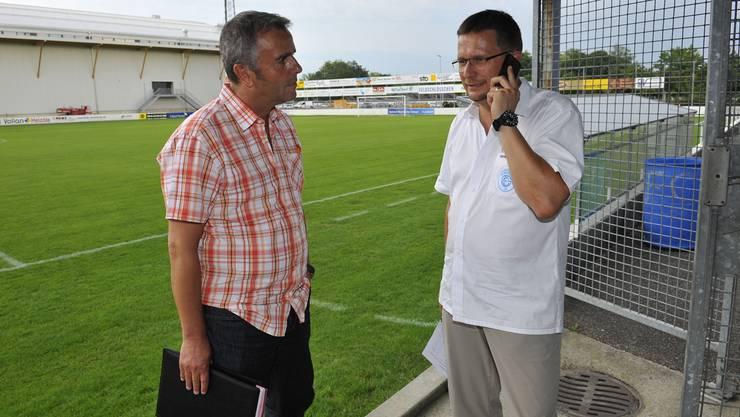 Packt seine Sachen: Rolf Bieri (links) übergibt Gerd Frera die Verantwortung.