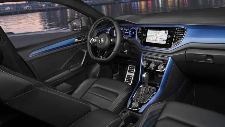 Durch Akzente in Wagenfarbe hebt sich der Innenraum etwas von restlichen Volkswagen-Modellen ab.