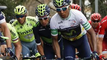 Der Kolumbianer Nairo Quintana (rechts) ist neuer Leader der 70. Austragung der Tour de Romandie