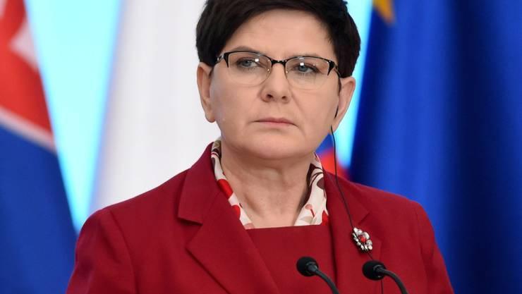 Not amused about Macron: die polnische Regierungschefin Beata Szydlo (in einer Aufnahme vom März dieses Jahres).