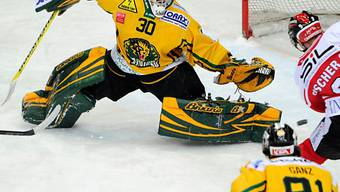 Thurgau (hier Goalie Andreas Schoop) hat keine Playoff-Chance mehr.