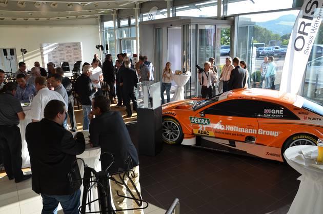 Besuch bei der AMAG in Schinznach-Bad mit einem Audi RS 5 DTM aus der letztjährigen Rennsaison