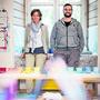 Petra Maarsen und Mark von Gunten haben für ihre Schule einen neuen Platz gefunden. Auch die LernStatt Schule ist aktuell wegen des Corona-Virus zu.