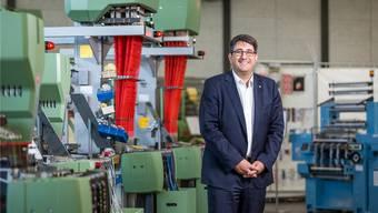Hier war es ihm noch zum Lachen zu Mute: Robert Reimann, CEO der Jakob Müller AG in Frick, im Oktober 2017.