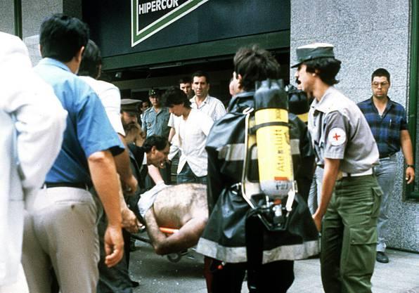 Der blutigste Angriff der ETA hinterliess 21 Tote, als auf dem Parkplatz eines Hipercor-Supermarkts in Barcelona eine Bombe explodierte.