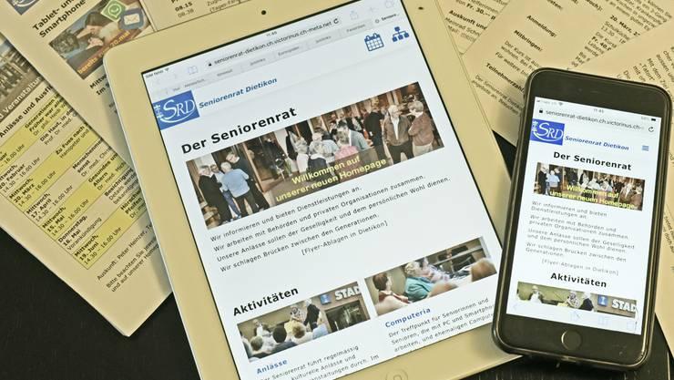 Seniorenrat Dietikon auf Tablet und Handy