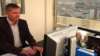 Erledigt Thomas Marbet an diesem Schreibtisch bald Aufgaben des Vizestadtpräsidenten?