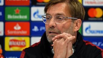 Liverpools Trainer Jürgen Klopp verlangt auch ohne Firminho und Salah ein Offensiv-Spektakel seines Teams