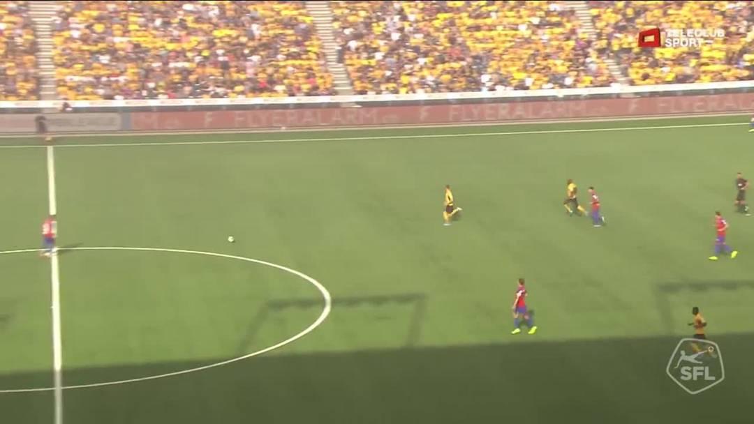 YB - FCB,  5. Minute: Tor für FC Basel 1893 von Silvan Widmer (Assist: Kevin Bua)