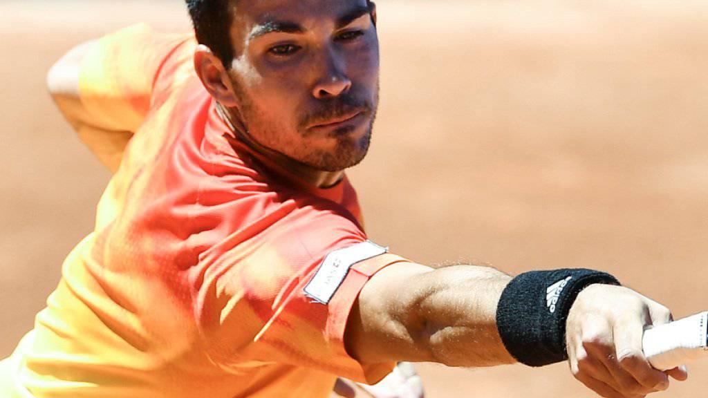 Vergeblich gestreckt: Yann Marti verpasste in Gstaad eine grosse Chance und verlor in der 1. Runde