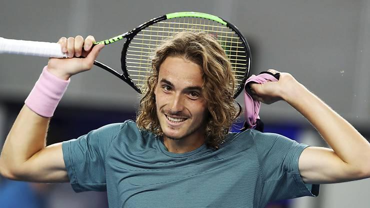 Liebling der vielen Griechen in Melbourne: Federers nächster Gegner Stefanos Tsitsipas