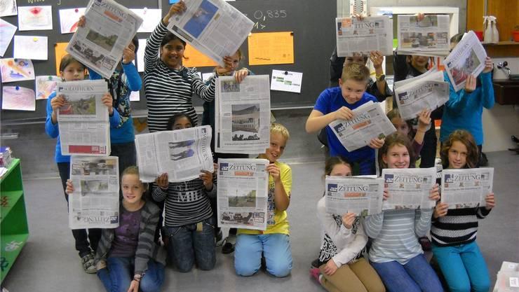 Fünftklässler im Fegetz-Schulhaus Solothurn lasen im Medienunterricht regelmässig die az Solothurner Zeitung.