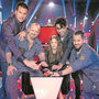 Die Coaches von «The Voice of Switzerland» (von links): DJ Antoine, Gölä, Anna Rossinelli, Noah Veraguth und Trauffer.