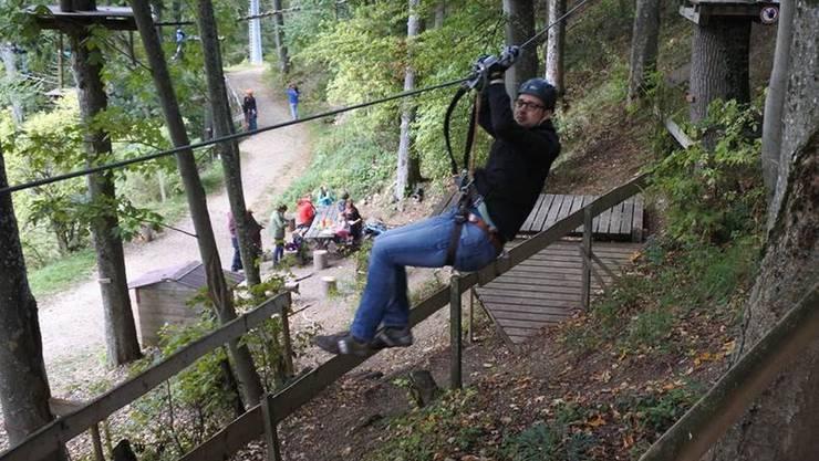 Zum Waldseilpark für Achtjährige und Ältere (Foto) kommt neu ein Kinderseilpark dazu. (Archiv)