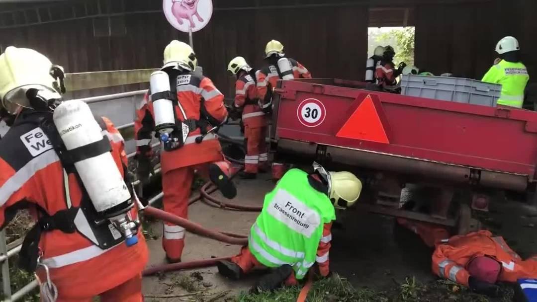 Feuerwehr Weiningen im Einsatz
