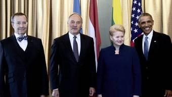Ilves, Berzins, Grybauskaite und Obama am Mittwoch in Tallinn