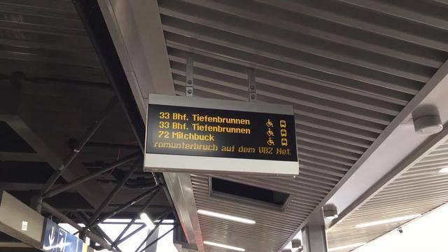 ZVV-Stromausfall: Trams und Busse stehen still!