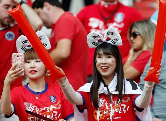 Und diese zwei für Südkorea.