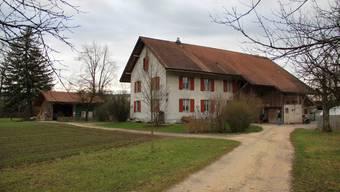 Der Bauernhof von Verena und Simon Antener auf dem Aare-Inseli.