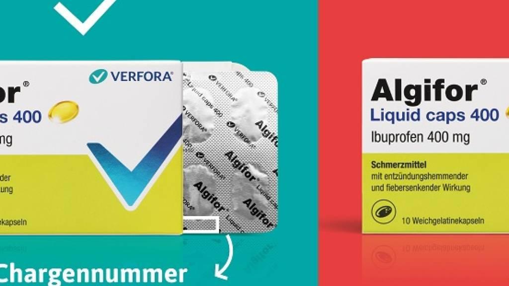 Vorsorglicher Rückruf einzelner Packungen Algifor Liquid Caps