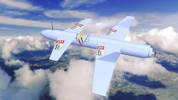Drohnen der Grösse einer Qasef-2K fliegen mehrere hundert Kilometer weit.