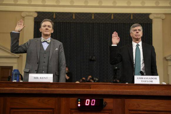 George Kent und William Taylor am Mittwoch in Washington.