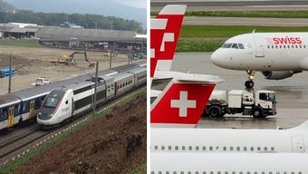 TGV-Panne bei Aarau strahlt bis Flughafen Kloten aus.