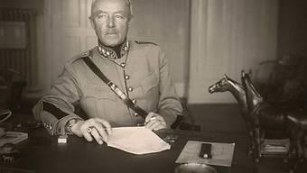 Guisan auf einem Foto von 1949 (Schweizerische Landesbibliothek)