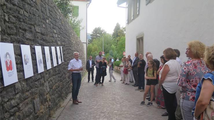 Präsident Roman Würsch (l.) am Jubiläumsfest des Kulturkreises im August. Muriel Zweifel