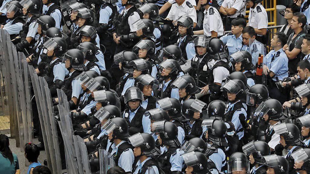 Die Sicherheitskräfte sind mit einem Grossaufgebot im Einsatz.