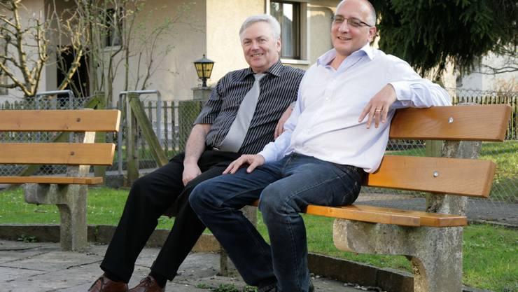 Walter Mächler und Daniel Schmid zum Schulbericht: «Unsere erst vierjährige Kreisschule ist auf gutem Kurs.» (psi)