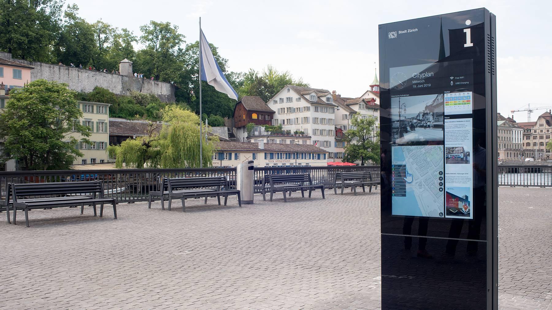 Cityplan am Limmatquai (Bild Amt für Städtebau, Stadt Zürich)