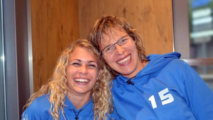 Martina Gloor (links) und Vreni Wasser haben gut Lachen, tragen sie doch jetzt den Titel Meister-Trainerinnen.