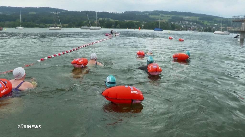 Greifensee-Überquerung konnte trotz Hochwasser stattfinden