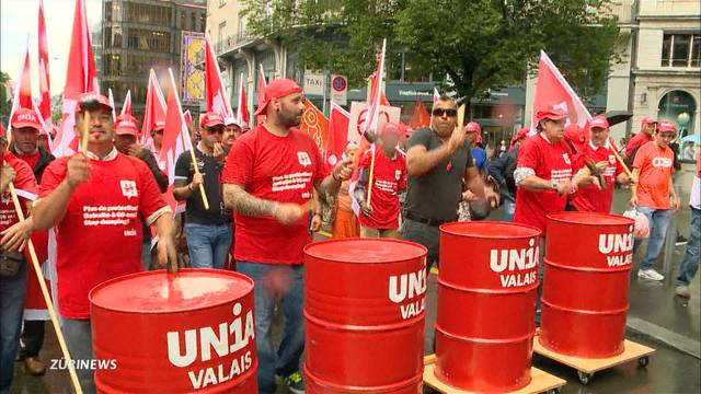 SVP und Gewerkschaften im Kampf um Personenfreizügigkeit