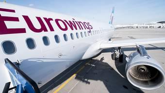 Wegen eines Todesfalls an Bord musste ein Airbus auf dem Eurowings-Flug von Gran Canaria nach Köln in Madrid zwischenlanden. (Archivbild)