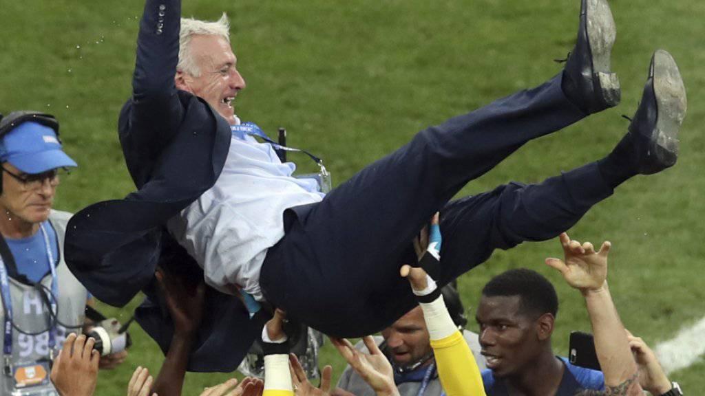 Didier Deschamps gewinnt nach dem Titel 1998 als Spieler nun auch als Trainer die Weltmeisterschaften