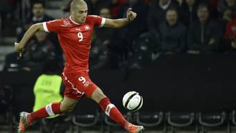 Nach seinem dritten Treffer im Testspiel gegen Deutschland im Mai 2012 schien Eren Derdiyok die Fussballwelt zu Füssen zu liegen.