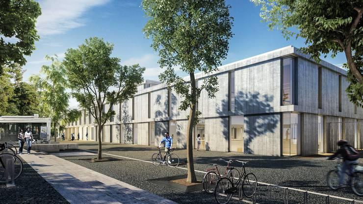 Im neuen Campus sind Theorie- und Praxisräume nahe beisammen.