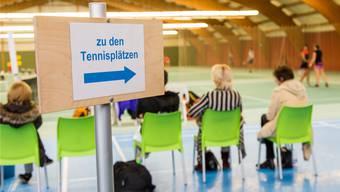 Die Future-Turniere wie hier in Oberentfelden locken kaum Zuschauer in die Halle.