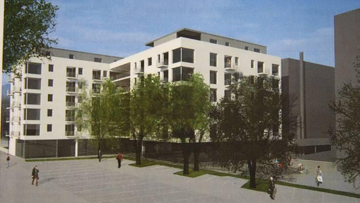 So sahen die Architekten bisher die Überbauung nordwestlich des Westbahnhofs.
